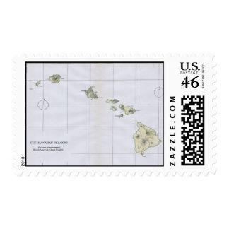 Mapa del vintage de Hawaii 1883
