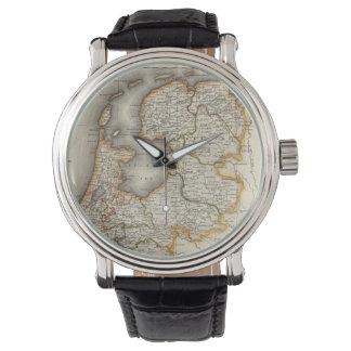 Mapa del vintage de Holanda (1817) Reloj