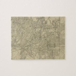 Mapa del vintage de Houston céntrica (1913) Puzzle Con Fotos