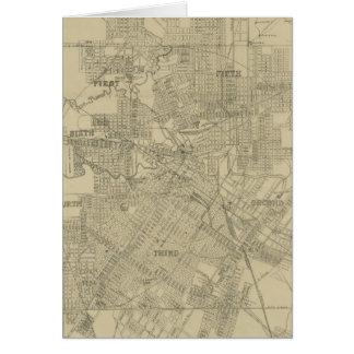 Mapa del vintage de Houston céntrica (1913) Tarjeta De Felicitación