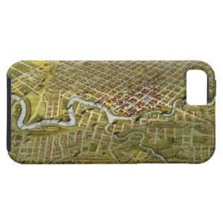 Mapa del vintage de Houston Tejas 1891 iPhone 5 Case-Mate Protectores