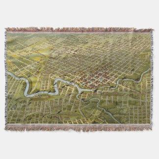 Mapa del vintage de Houston Tejas (1891) Manta
