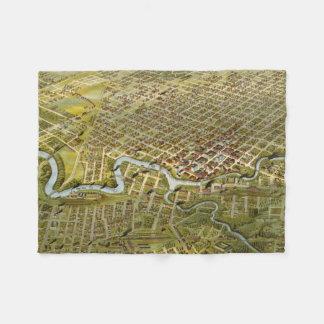 Mapa del vintage de Houston Tejas (1891) Manta De Forro Polar