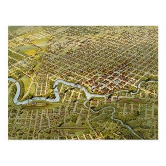 Mapa del vintage de Houston Tejas (1891) Postales