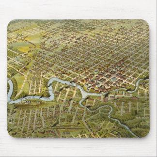 Mapa del vintage de Houston Tejas (1891) Tapete De Ratones