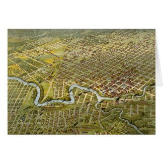 Mapa del vintage de Houston Tejas (1891) Tarjeta De Felicitación