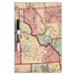 Mapa del vintage de Idaho (1866) Pizarra