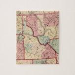 Mapa del vintage de Idaho (1866) Puzzles
