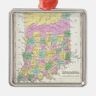Mapa del vintage de Indiana (1827) Adorno De Reyes