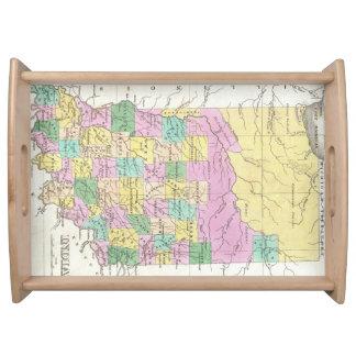 Mapa del vintage de Indiana (1827) Bandeja
