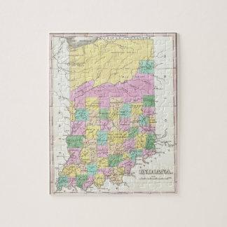 Mapa del vintage de Indiana (1827) Puzzle