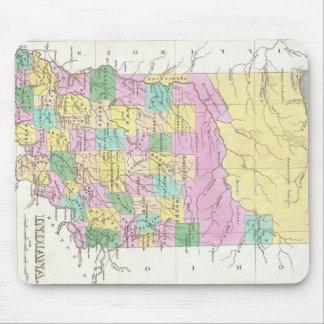 Mapa del vintage de Indiana (1827) Alfombrilla De Raton
