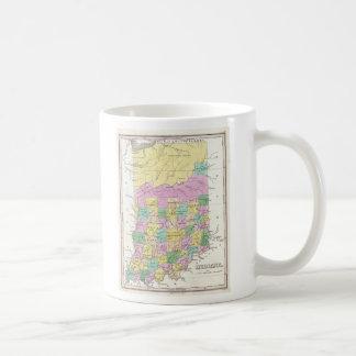 Mapa del vintage de Indiana (1827) Taza De Café