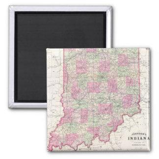 Mapa del vintage de Indiana (1864) Iman De Frigorífico