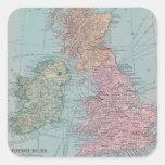 Mapa del vintage de Inglaterra Pegatinas Cuadradases