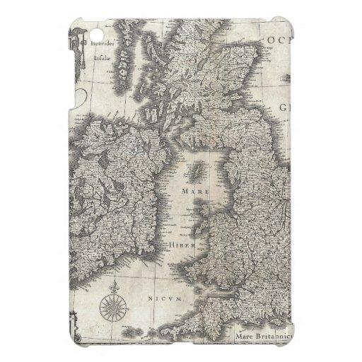 Mapa del vintage de Inglaterra y de Irlanda (1631) iPad Mini Cárcasas
