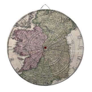 Mapa del vintage de Irlanda (1716)
