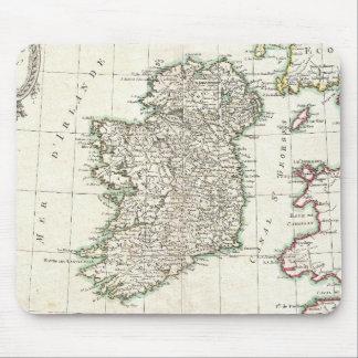 Mapa del vintage de Irlanda (1771) Alfombrillas De Ratones