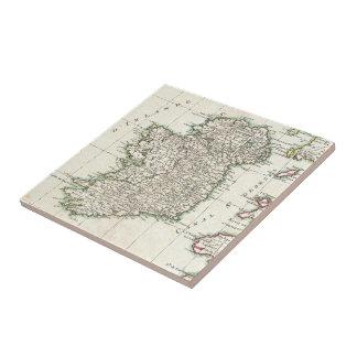 Mapa del vintage de Irlanda (1771) Azulejo Cuadrado Pequeño