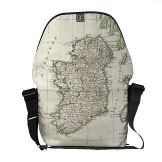 Mapa del vintage de Irlanda (1771) Bolsas De Mensajería