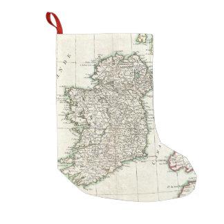 Mapa del vintage de Irlanda (1771) Calcetín Navideño Pequeño