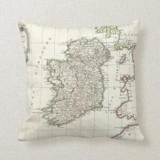 Mapa del vintage de Irlanda (1771) Cojín Decorativo