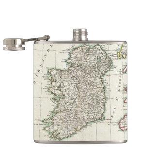 Mapa del vintage de Irlanda (1771) Petaca