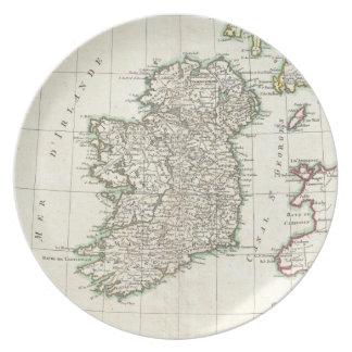 Mapa del vintage de Irlanda (1771) Platos De Comidas