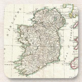 Mapa del vintage de Irlanda (1771) Posavasos De Bebidas