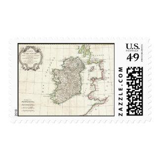 Mapa del vintage de Irlanda (1771) Sello