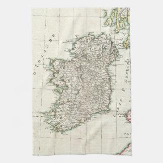 Mapa del vintage de Irlanda (1771) Toalla