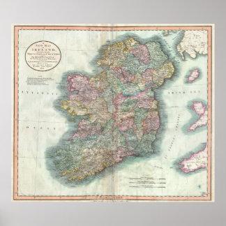 Mapa del vintage de Irlanda (1799) Impresiones