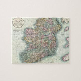Mapa del vintage de Irlanda (1799) Puzzle