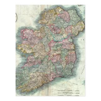 Mapa del vintage de Irlanda (1799) Tarjeta Postal