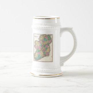 Mapa del vintage de Irlanda 1827 Taza De Café