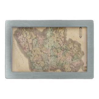 Mapa del vintage de Irlanda (1831) Hebilla Cinturón