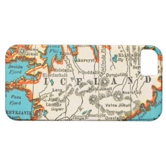 Mapa del vintage de ISLANDIA iPhone 5 Carcasa