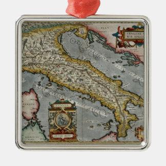 Mapa del vintage de Italia (1584) Adornos