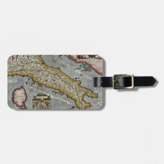 Mapa del vintage de Italia (1584) Etiqueta De Equipaje