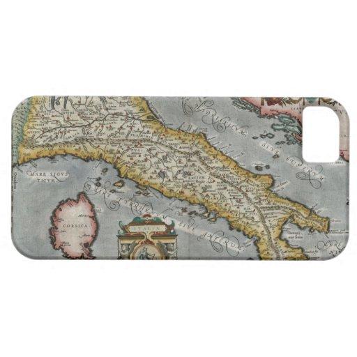 Mapa del vintage de Italia (1584) Funda Para iPhone SE/5/5s