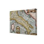 Mapa del vintage de Italia (1584) Impresiones En Lona