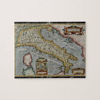 Mapa del vintage de Italia (1584) Puzzle Con Fotos