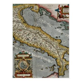 Mapa del vintage de Italia (1584) Tarjeta Postal