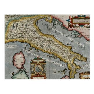 Mapa del vintage de Italia (1584) Tarjetas Postales