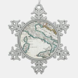 Mapa del vintage de Italia (1706) Adornos