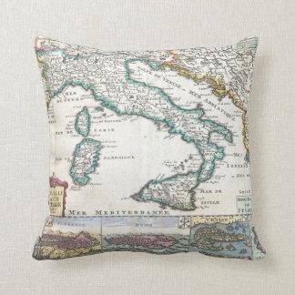 Mapa del vintage de Italia (1706) Cojines