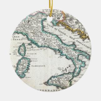 Mapa del vintage de Italia (1706) Ornamentos Para Reyes Magos