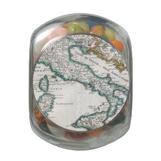 Mapa del vintage de Italia (1706) Frascos De Cristal