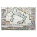 Mapa del vintage de Italia (1706) Mantel Individual