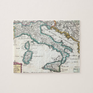 Mapa del vintage de Italia (1706) Puzzle Con Fotos